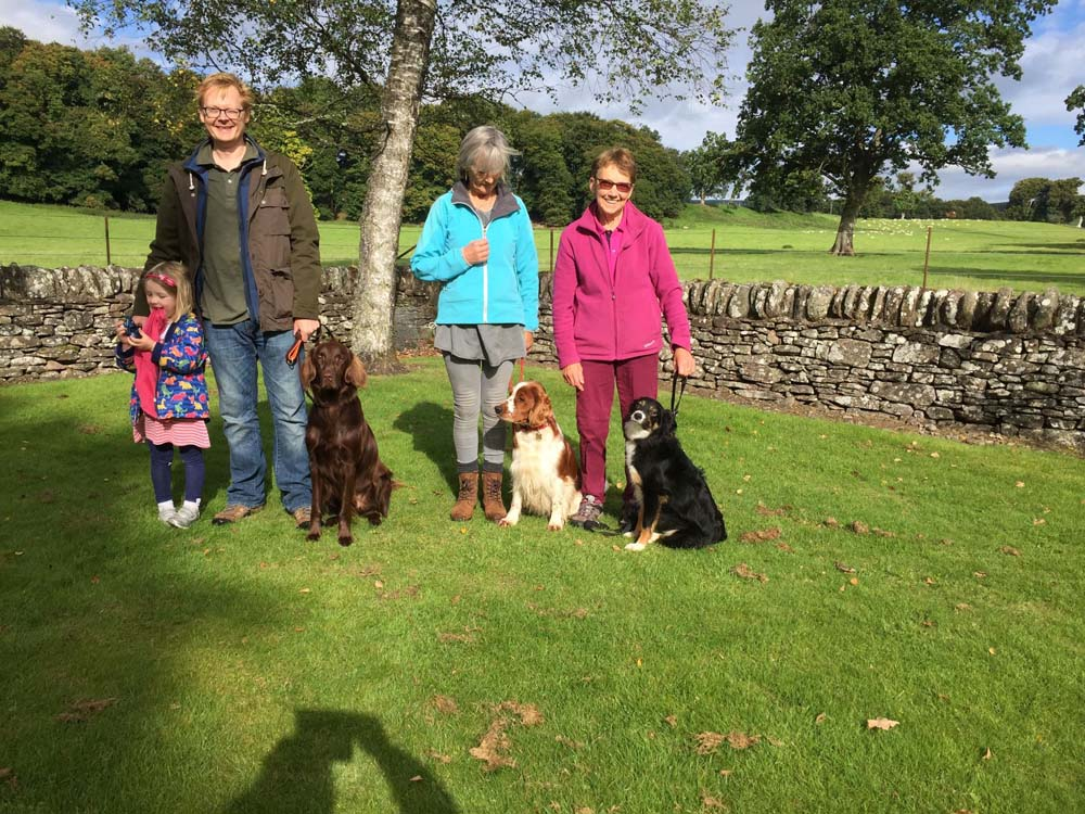 Kennel Club Good Citizen SILVER - September 2018 - Simon with Bertie, Fionna with Deezyl, and Pearl with Midge